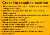 Advises before crossing river — Stockfoto