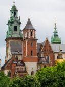 在克拉科夫的瓦维尔大教堂 — 图库照片