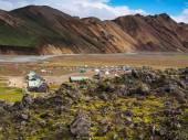 Camping in Landmannalaugar — Stock Photo