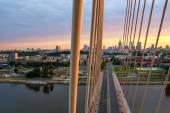 Swietokrzyski most přes wisla ve varšavě — Stock fotografie