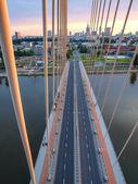 Swietokrzyski Bridge over Wisla in Warsaw — Стоковое фото
