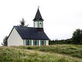 White church in Thingvellir — Stock Photo