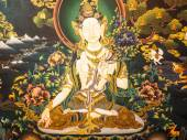 Ancient Buddhist thangka painting — Stock fotografie
