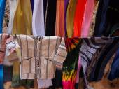 Morocco towels and scarfs — Stock Photo