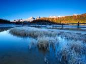 Lake Lej da Staz — Stock Photo
