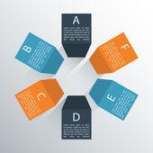 Modern business column options banner. Vector illustration.  — Stockvector