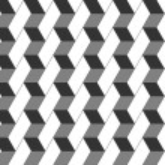 Seamless geometric pattern in op art design. Vector illustration — Stock Vector #52157453