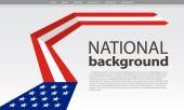 USA flag background. Vector Illustration — Stock Vector