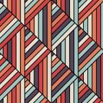 Seamless geometric pattern in op art design. Vector art. — Stock Vector #52395603