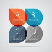 Banner empresariales modernas opciones de infografía. ilustración vectorial — Vector de stock