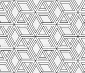 Seamless geometric pattern in op art design. Vector art. — Stock Vector