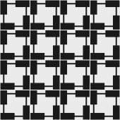Seamless geometric pattern in op art design. Vector illustration — Stock Vector