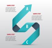 Abstract infographics with arrows — Stock Vector