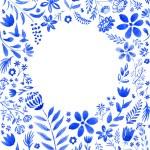 Blue floral frame — Stock Photo #52332059