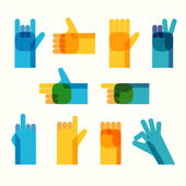 Hands icon set — Stock Vector