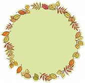 Round frame with autumn leaves — Stock Vector