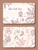 Card with a sprig of leaves elements forest — Vector de stock
