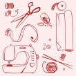 Set items for sewing and crafts — Stock Vector #75582063