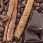 Coffee  and vanilla background — Stock Photo #68108969