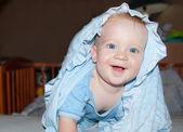 Baby boy smiles — Stock Photo