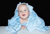 Baby boy blue eyes — Stock Photo