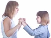 Mother and daughter relations — Stock Photo