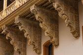 Beautiful corbels in Salina Palace located in Salamanca — Stock Photo