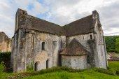 Saint amand de coly iglesia en dordigne, francia — Foto de Stock