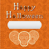Happy halloween poscard — Stock Vector