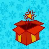 赤のプレゼント ボックス — ストックベクタ
