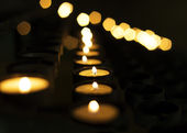 Candles in a row — Stock Photo