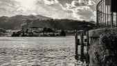 San Giulio Island B&W — 图库照片