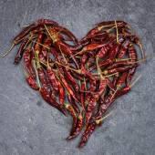 Red chili heart — Stock Photo