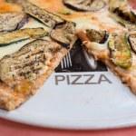 Pizza eggplant and zucchini — Stock Photo #76823399