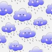Smiling clouds — Vector de stock