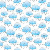 Smiling clouds — Stock vektor