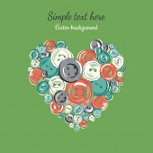 Heart of the buttons — Vector de stock