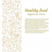 Healthy food menu — Stock Vector