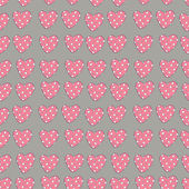 Cute pink hearts seamless pattern — Stock Vector