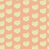 Sömlös hjärtan mönster — Stockvektor