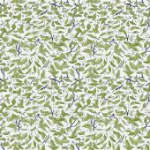 Seamless pattern with green leaves — Stock Vector