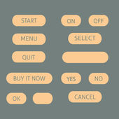 Computer menu buttons — Stock Vector