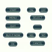 Menu buttons set — Stock Vector