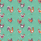 Chicken seamless pattern — Stock Vector