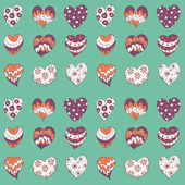 Valentines hearts seamless pattern — Stock Vector