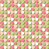 Seamless pattern of colorful circles — Stock Vector