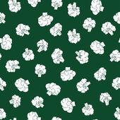Broccoli seamless pattern — Stock Vector