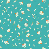Seamless pattern with chamomile flowers — Stock Vector