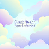 Flat clouds background — Stock Vector