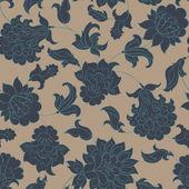 Ethnic flowers seamless pattern. — Stock Vector